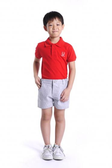 Quần short vải bé trai Ugether UKID26 (xám)