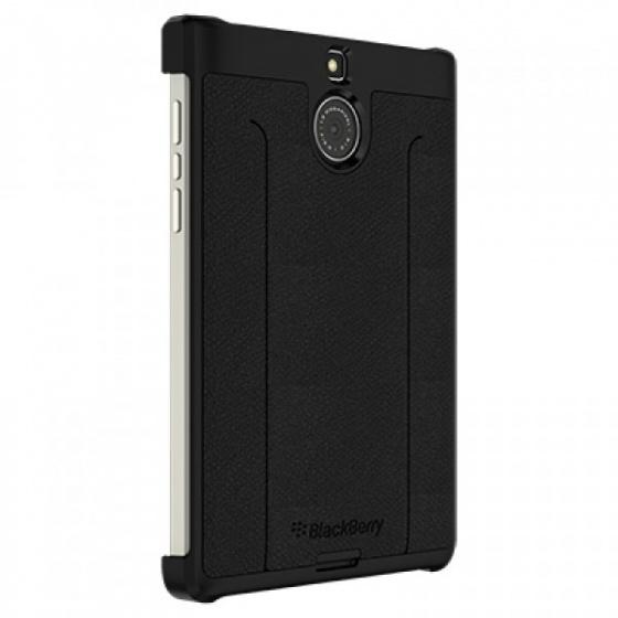 Ốp lưng - Leather flex shell BlackBerry PassPort Silver black fullbox