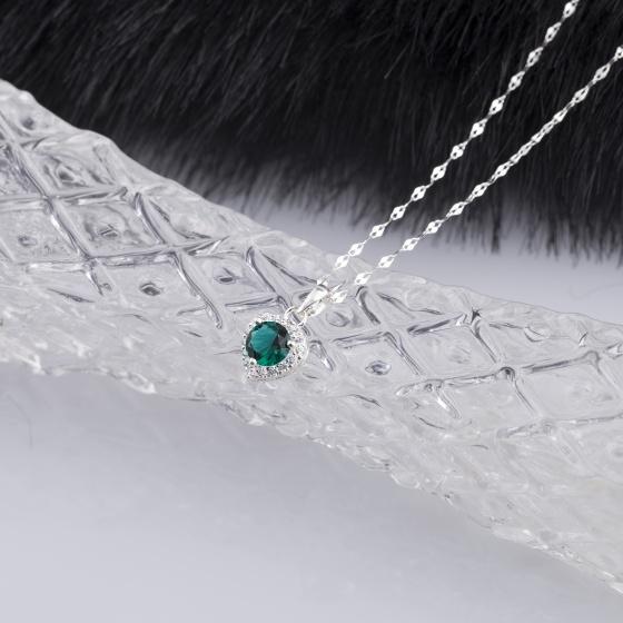 Set mặt kèm dây chuyền bạc và đính đá Ross Opal 14_10
