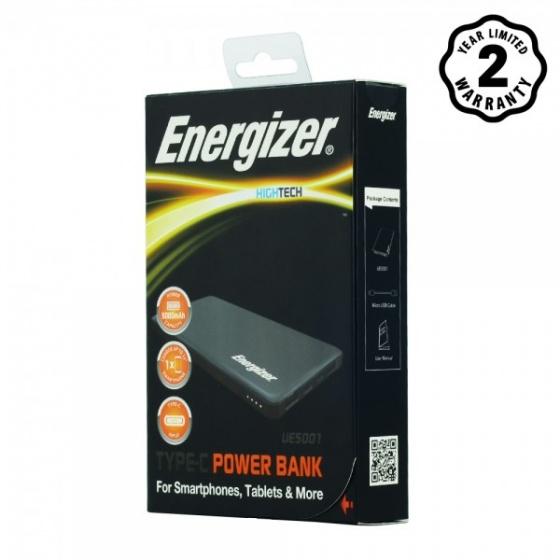 Pin sạc dự phòng Energizer 5,000mAh - UE5001GY (Xám)