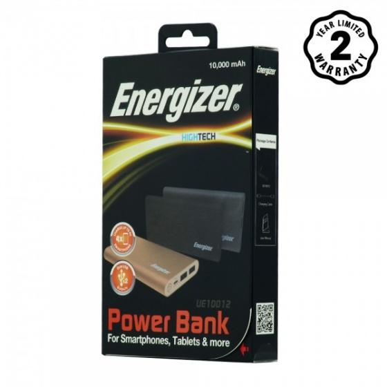 Pin sạc dự phòng Energizer 10,000mAh Li-Po 2 Cổng - UE10012BK (Đen)