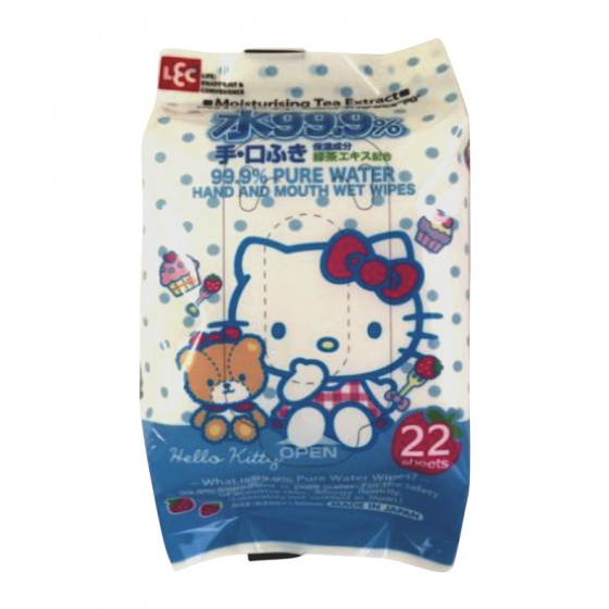 Giấy ướt LEC 99,9% nước tinh khiết tay và miệng SS284 22 tờ