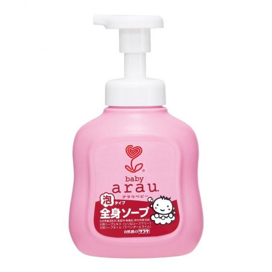 Sữa tắm Arau Baby dạng bình 450ml cho bé
