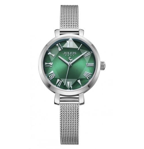 Đồng hồ nữ julius Hàn Quốc dây thép ja-1019a  ju2000b ( bạc )