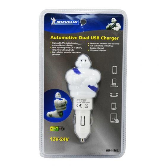Sạc xe hơi 2 cổng USB Michelin 6511ML