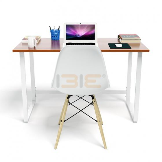 Bộ bàn Rec-F trắng màu cánh gián và ghế Eames chân gỗ trắng