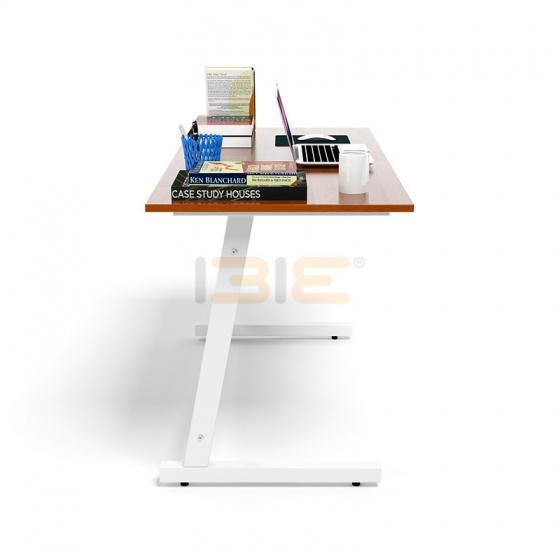 Bộ bàn Rec-Z trắng màu cánh gián gỗ cao su và ghế Eames chân gỗ đen