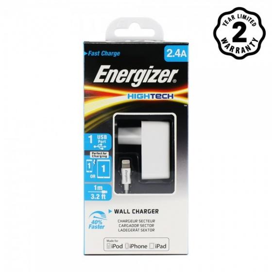 Sạc Energizer 2.4A kèm cáp Lightning - ACA1BEUHLI3