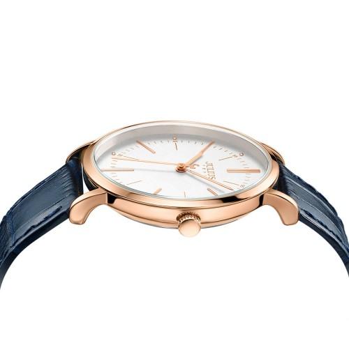 Đồng hồ nam Julius Hàn Quốc dây da JA-1003D (xanh)