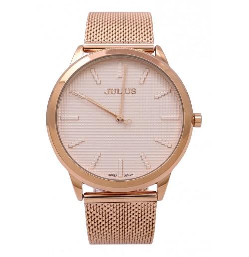 Đồng hồ nam Julius Hàn Quốc dây thép JA-982 (đồng)