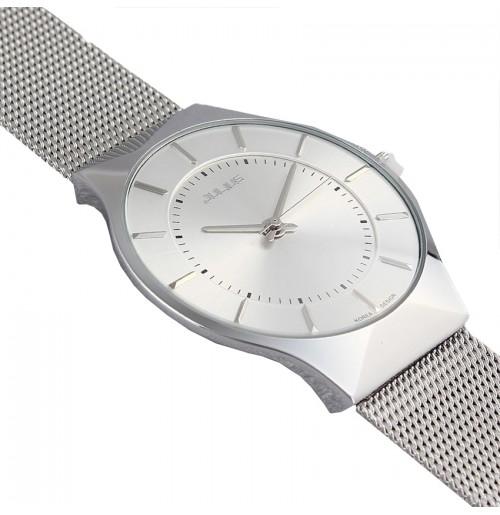 Đồng hồ nam Julius Hàn Quốc dây thép JA-577 JU1129 (trắng bạc)