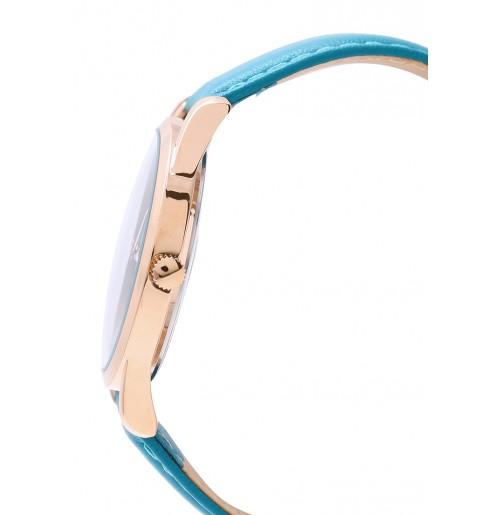 Đồng hồ nam Julius Hàn Quốc dây da JA-983 JU1207 (xanh)