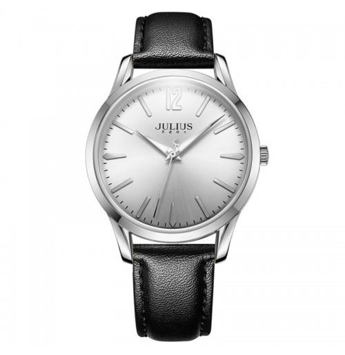 Đồng hồ nam Julius Hàn Quốc dây da JA-983 JU1207 (đen mặt trắng)