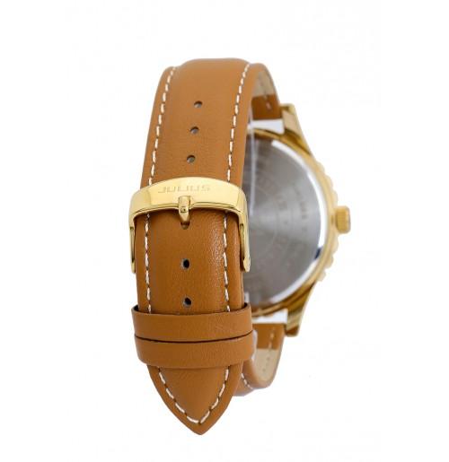 Đồng hồ nam Julius Hàn Quốc dây da JAH-013 JU1169 (nâu mặt tím)