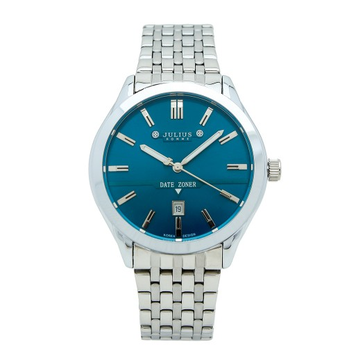 Đồng hồ nam Julius JAH-086 JU1099 (bạc mặt xanh)