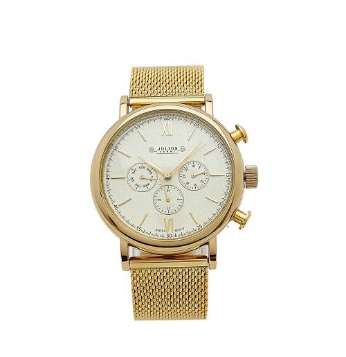 Đồng hồ nam Julius 3 máy JAH-090 JU1054 (vàng)