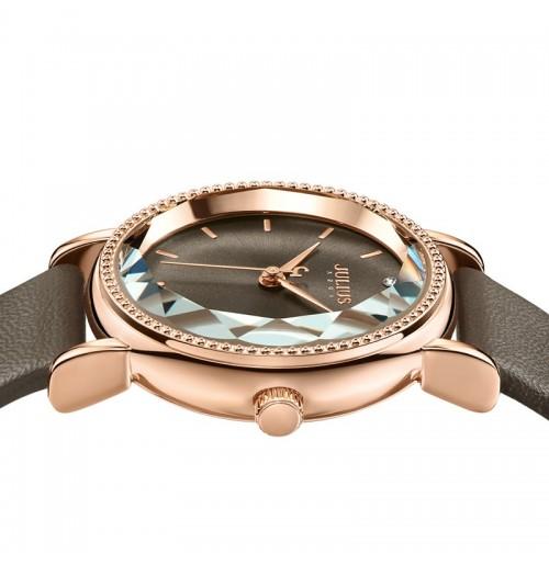 Đồng hồ nữ Julius Hàn Quốc dây da  JA-1012E (nâu)