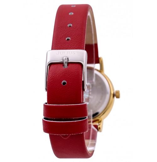 Đồng hồ nữ Julius Hàn Quốc dây da JA-1012A (đỏ)