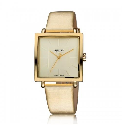 Đồng hồ nữ Julius Hàn Quốc mặt vuông JA-354 JU1213 (vàng kem)