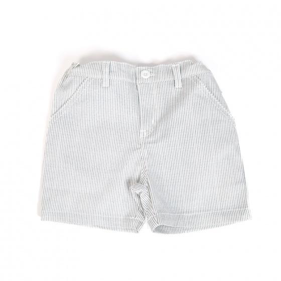 Set áo thun Mr. Happy Smile và quần short kẻ sọc Tiniboo
