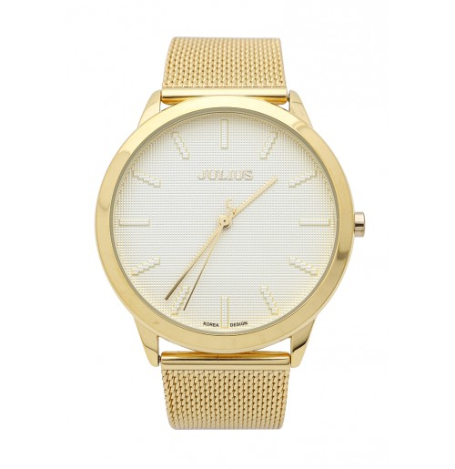 Đồng hồ nam Julius Hàn Quốc dây thép JA-982 JU1231 (vàng)
