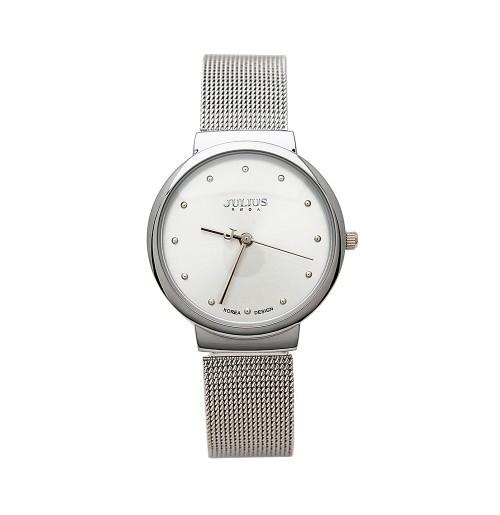 Đồng hồ nữ Julius Hàn Quốc dây thép JA-426 JU1052 (bạc)