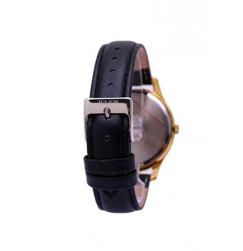Đồng hồ cặp Julius Hàn Quốc dây da JA-983B JU1207 (đen mặt xanh)