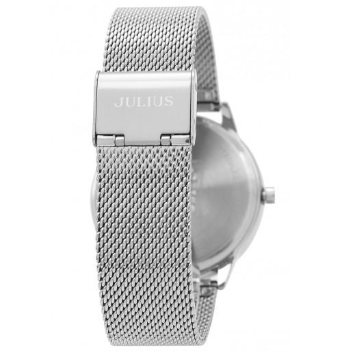 Đồng hồ cặp Julius Hàn Quốc dây thép JA-982A JU1231 (bạc)