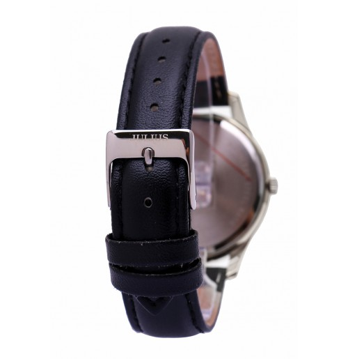 Đồng hồ cặp Julius Hàn Quốc dây da JA-983A JU1207 (đen mặt trắng)