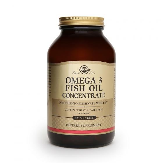 Dầu cá Solgar® Omega-3 Concentrate 120 viên nang mềm - Nhập khẩu USA chính hãng - tặng kèm áo thun