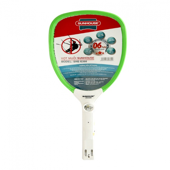 Vợt muỗi Sunhouse SHE-E350 (Xanh lá)