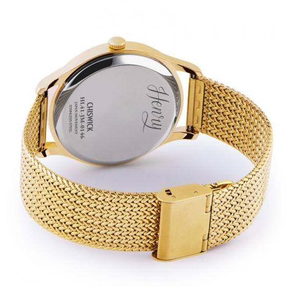 Đồng hồ đôi Henry London HL41-JM-0146 – HL39-M-0102 Chiswick (vàng)