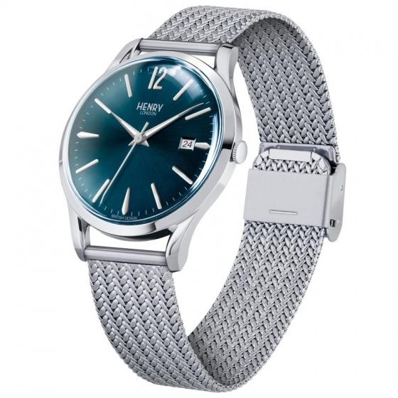 Đồng hồ nam Henry London HL39-M-0029 Knightsbridge (bạc)