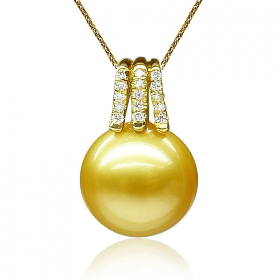Mặt dây chuyền tự nhiên mạ vàng 14k - MDC412