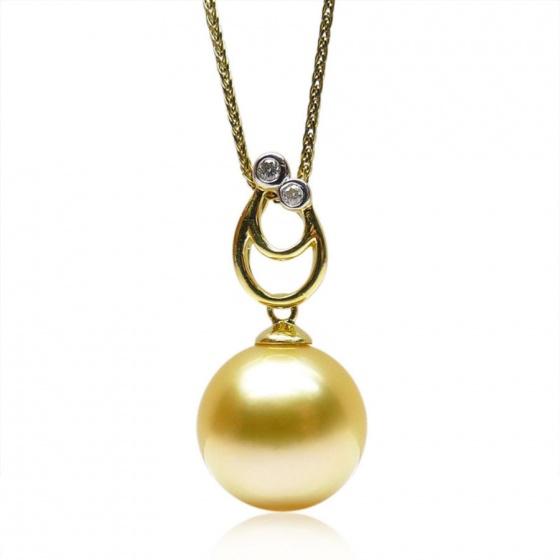 Mặt dây chuyền tự nhiên mạ vàng 14k - MDC402