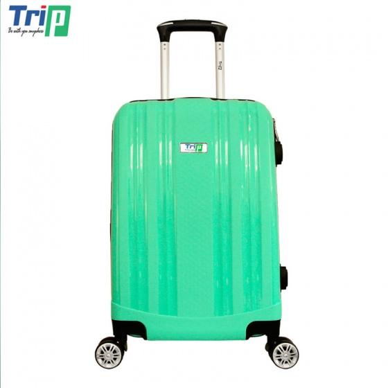 Vali Trip PP102 Size 60cm - 24inch màu xanh (tặng 01 áo vali + 01 gối cổ)