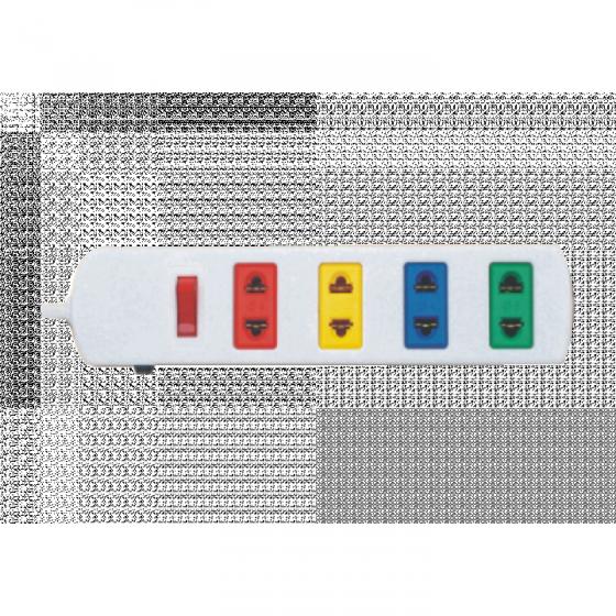 Ổ cắm điện 4S dây 5m x 2 Lioa 4S5W - Trắng
