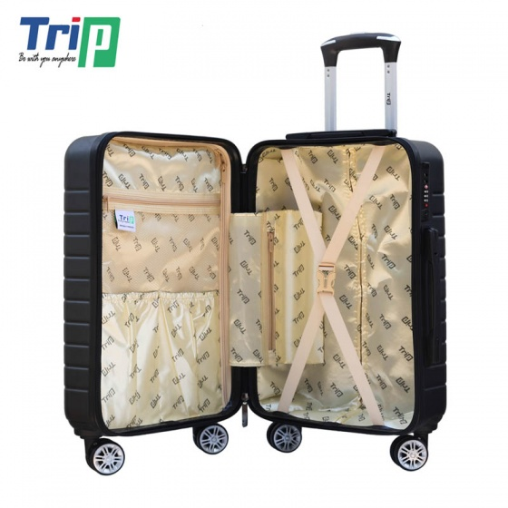 Vali chống trộm Trip PC911 Size 50cm màu đen (tặng 1 gối cổ màu ngẫu nhiên)