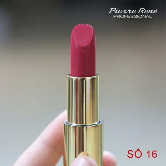 Son lì dưỡng môi màu lâu trôi - Pierre René Royal Matt Lipstick 16 (màu Enternal Flame)