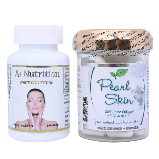 Combo Beauty Care - trắng da: A+ Nutrition White Collection & Pearl Skin Collagen