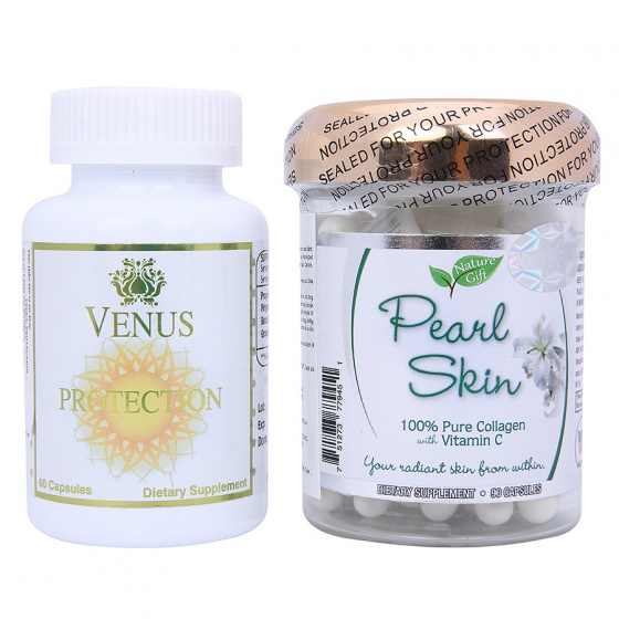 Combo Beauty Care - Chăm sóc da: Venus Protection & Pearl Skin Collagen