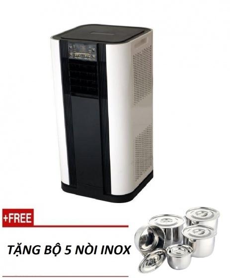 Máy lạnh di động Kachi KC-ML01 9000btu (Trắng phối đen) - tặng bộ 5 nồi inox