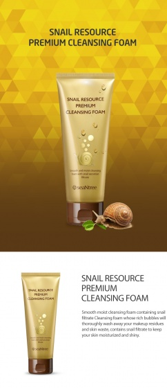 Sữa rửa mặt Seantree Snail Resource Premium Cleansing Foam- 150ml