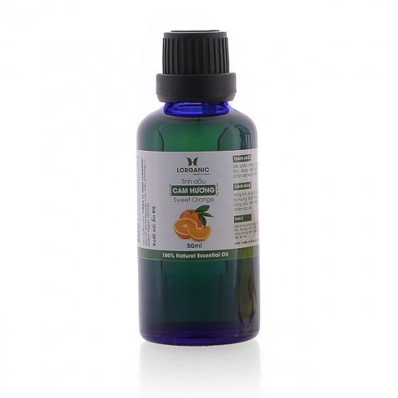 Combo tinh dầu cam hương Lorganic  (50ml) +tinh dầu cam hương Lorganic treo xe hơi, tủ áo  (10ml)