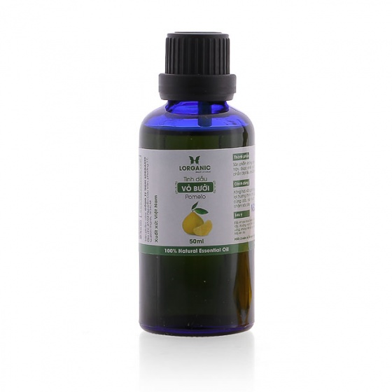 Combo tinh dầu bưởi Lorganic (50ml) + tinh dầu bưởi Lorganic treo xe hơi, tủ áo (10ml)