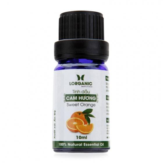 Tinh dầu cam hương Lorganic sweet orange natural essential oil 10ml