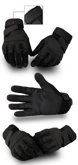 Găng tay vải thể thao BLACK_HAWK phượt, tập gym, găng tay quân sự đa năng chống trơn trượt POPO Collection (Đen- size M)