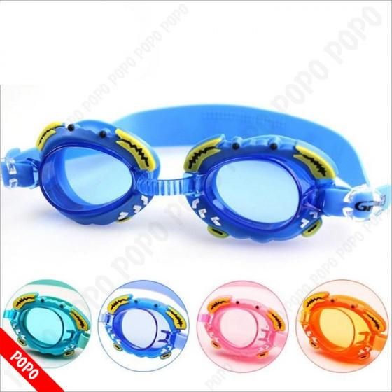 Kính bơi trẻ em thời trang (Dưới 12 tuổi), chống tia UV POPO Collection (Cam)