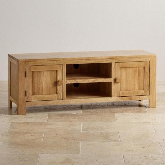 Tủ tivi Capri 2 cánh 2 ngăn gỗ sồi 1m4 - Cozino