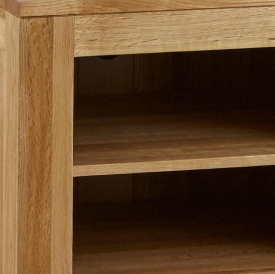 Tủ tivi Capri 1 cánh 2 ngăn gỗ sồi 1m - Cozino